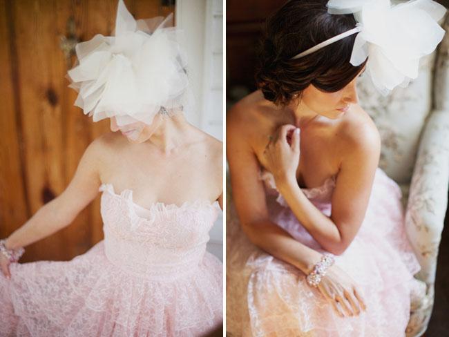 pink lace vintage dress