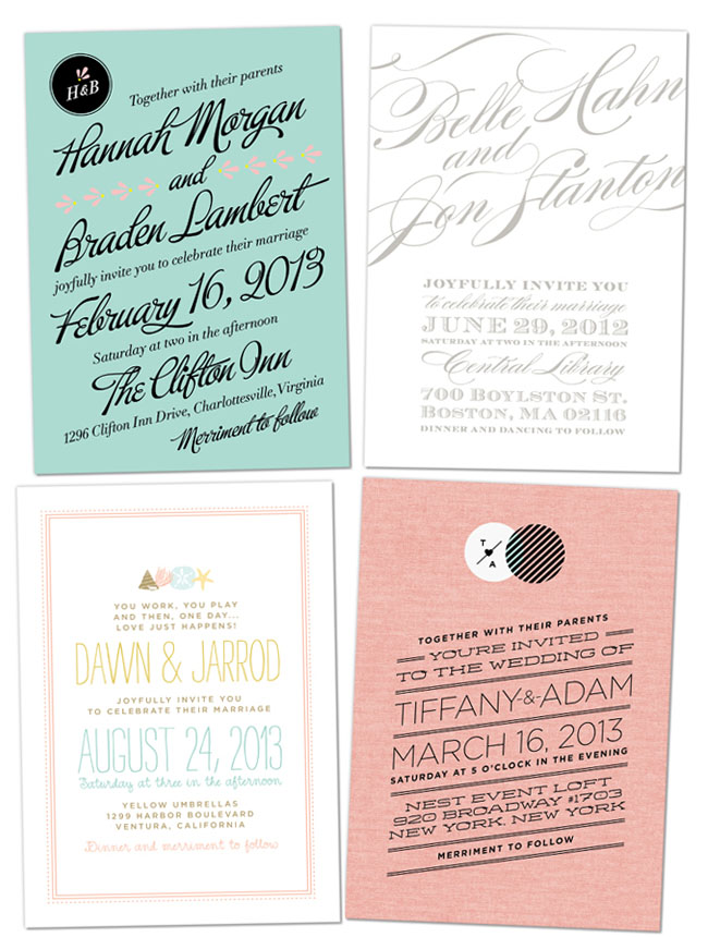 modern and hip wedding invitations