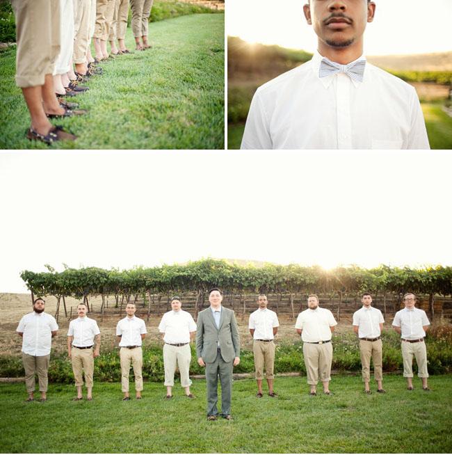 groomsmen in bow ties