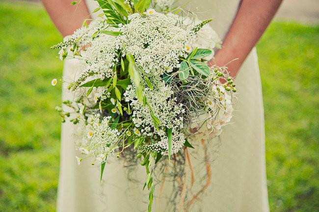 white lace bouquet
