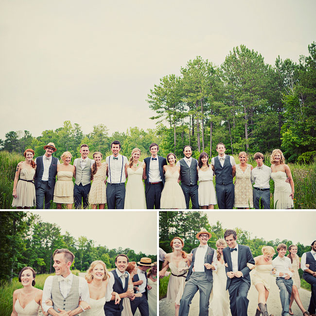 stylish wedding party