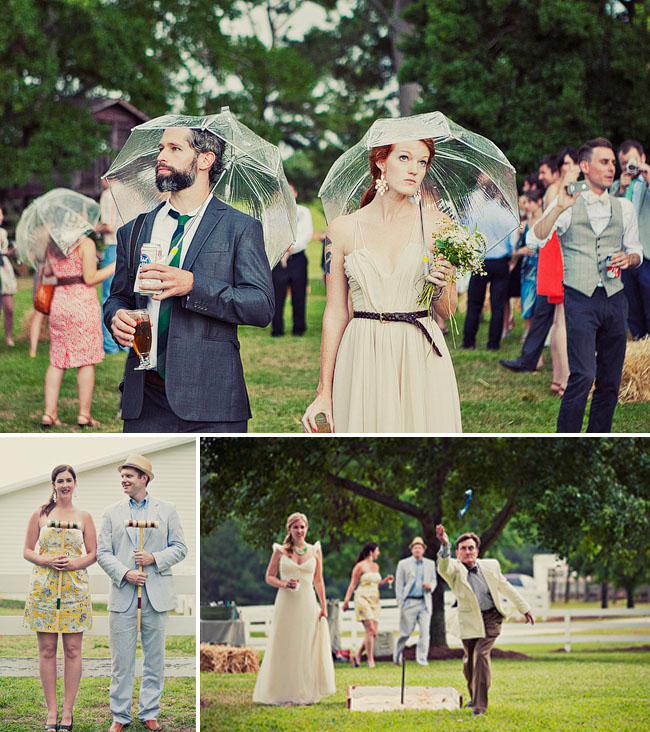 horseshoes wedding activity