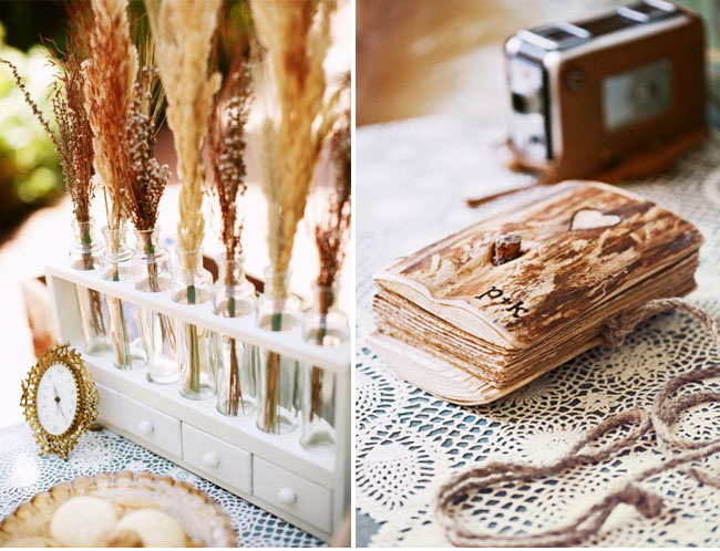 dried wheat decor