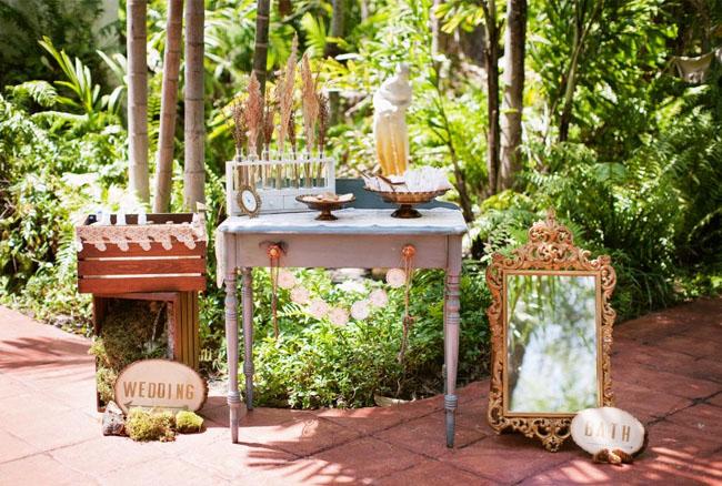 vintage table set up