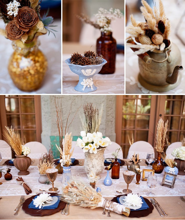 A miami destination wedding dried wheat centerpieces junglespirit Image collections