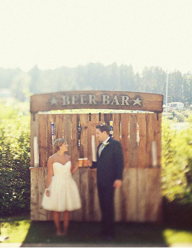beer bar wedding
