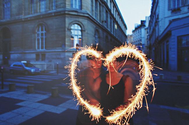 sparkler heart