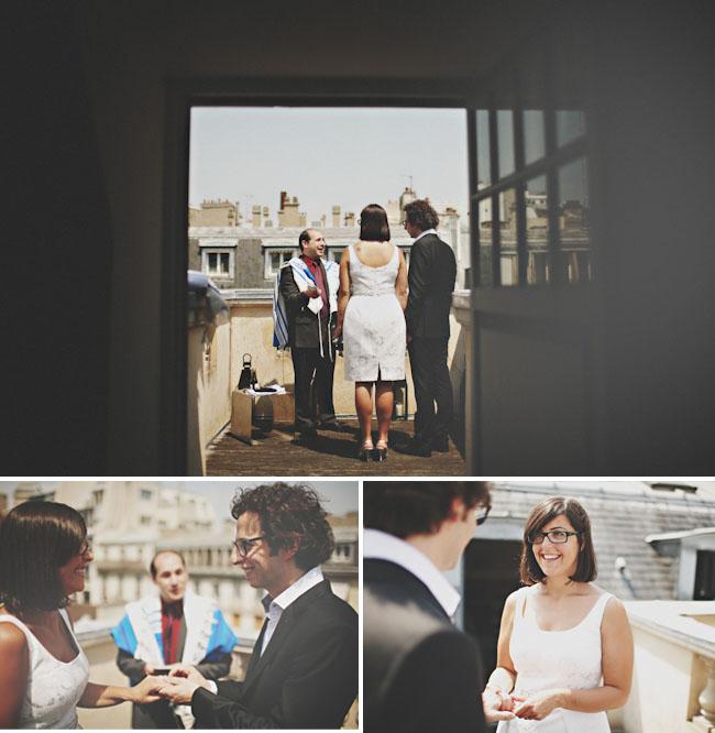 paris elopement on a roof
