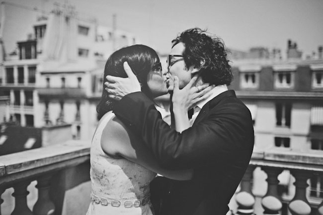 paris elopement on a roof