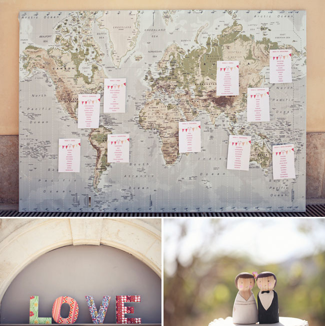 world map escort cards