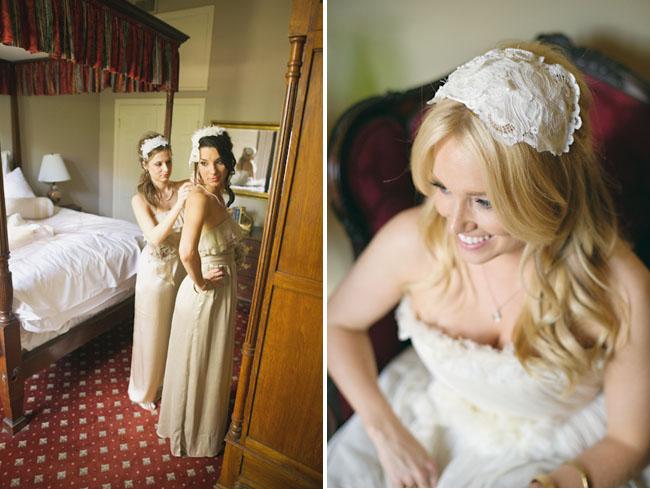 lace bridal hat