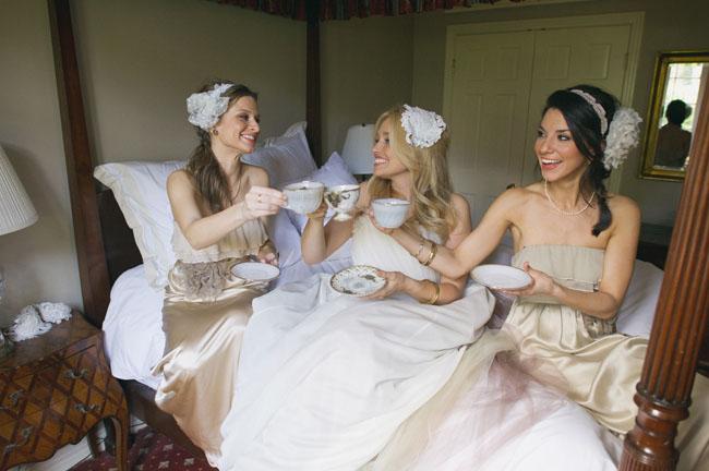 brides having tea