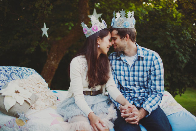 couple wearing crowns