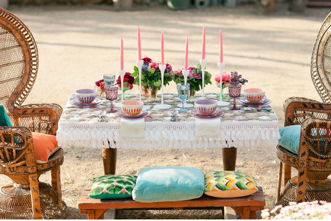 psychedelic tablescape