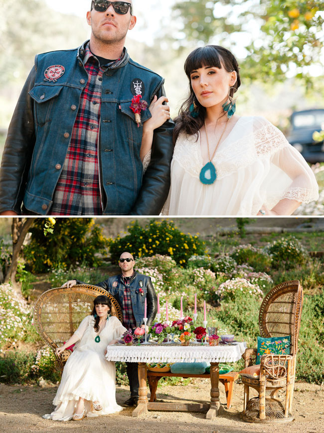 groom in flannel and jean jacket