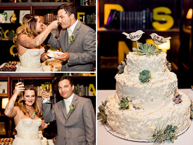 How Much Cake Do I Need For My Wedding: Smog Shoppe Eco Chic Wedding: Stacey + Mike