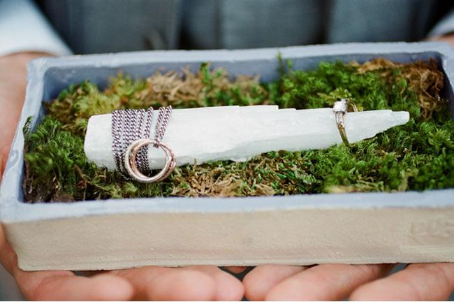 rings in moss box