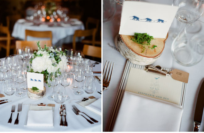 wood slice wedding table number
