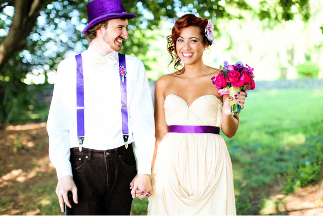 purple bridal belt