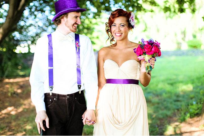 purple bridal belt