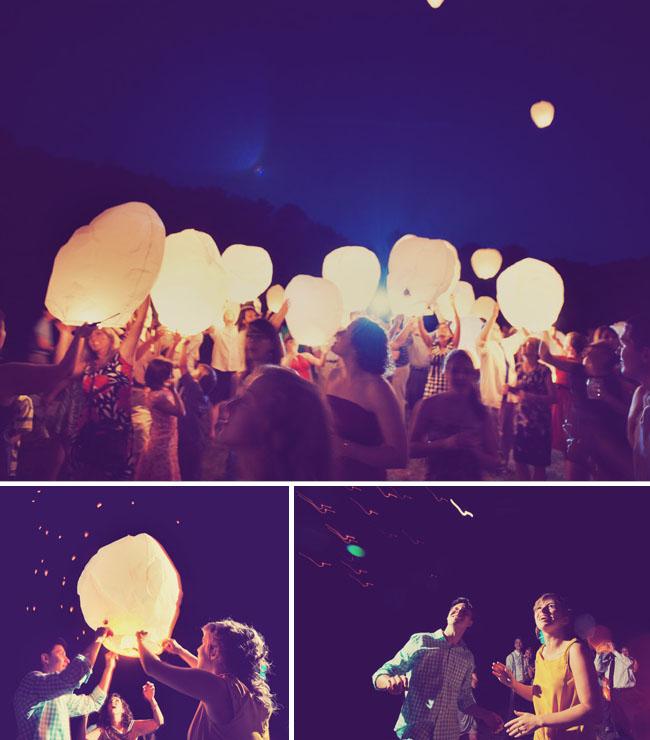 chinese wishing lantern reception