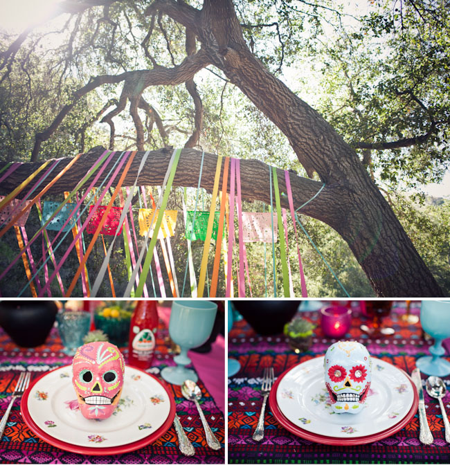 Halloween Wedding Altar: Dia De Los Muertos Wedding Inspiration