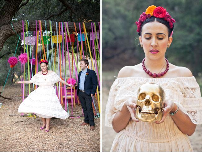 dia de los muertos gold skull