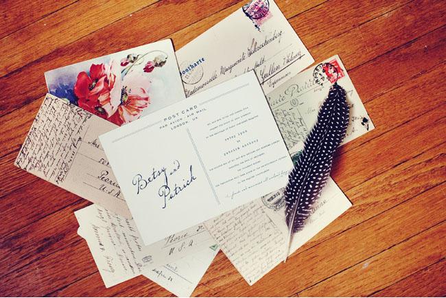 vintage letter invitation