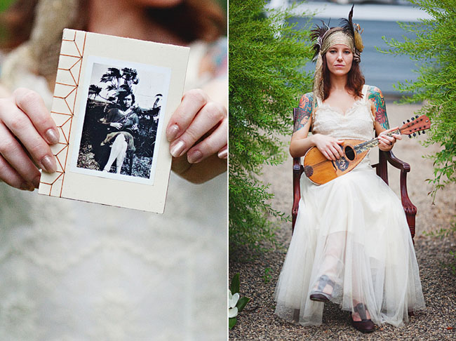 bride with guitar