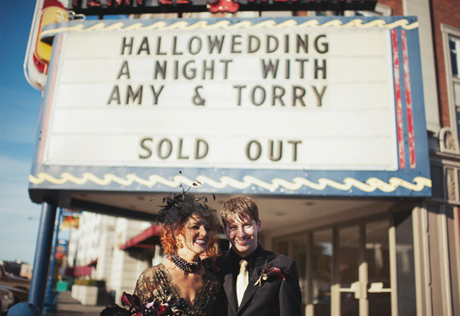 halloween wedding at theater