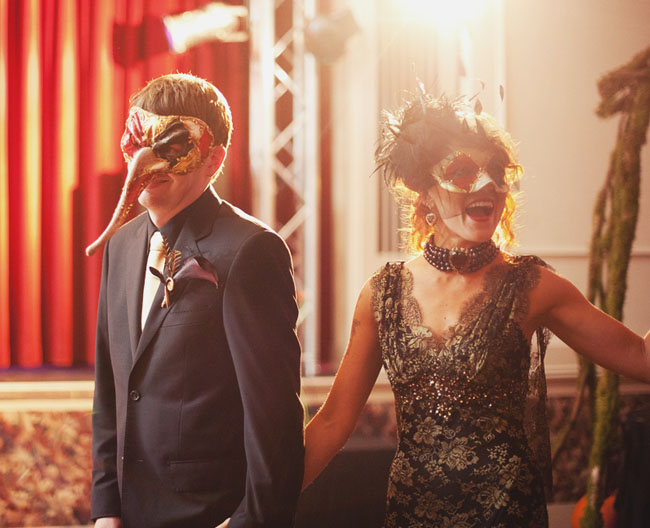 halloween masquerade wedding