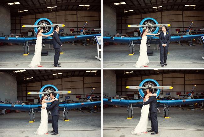 first look at airplane hangar
