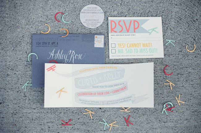 airplane wedding invitation