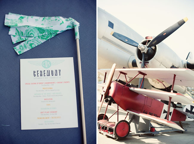 airplane hangar wedding ceremony