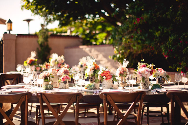 succulent and colorful centerpieces