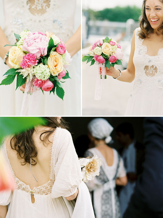 ibiza wedding, pink and yellow bouquet
