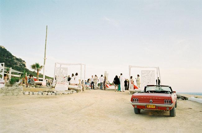 red mustang getaway car