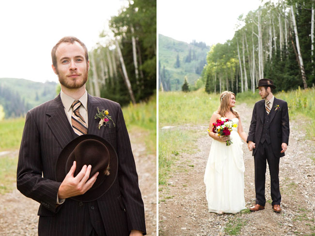 groom in hat