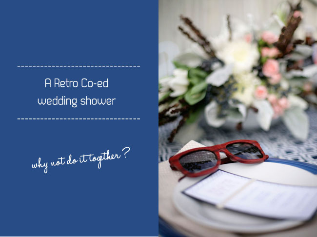 retro wedding shower