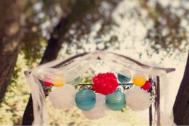 tissue ball ceremony decor