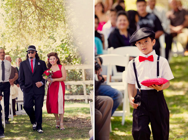 ring bearer in red bowtie