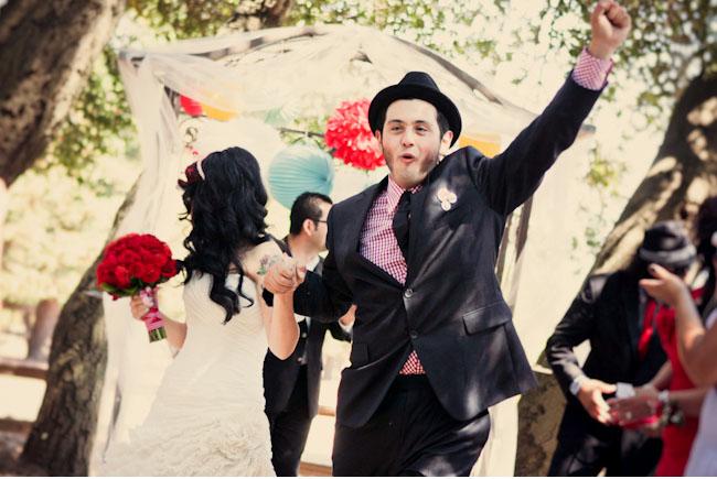 rockabilly wedding exit