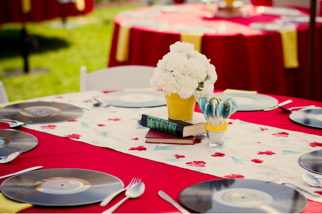 rockabilly reception with hearts
