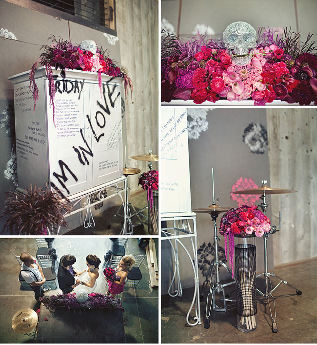 rock wedding decor