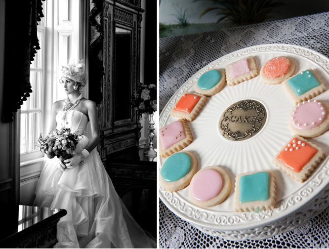 rocoo wedding inspiration, cake cookies