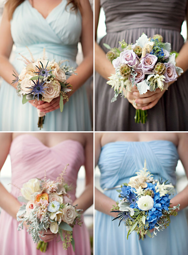 multi colored bridesmaids