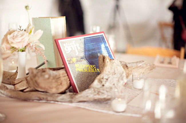 book wedding decor
