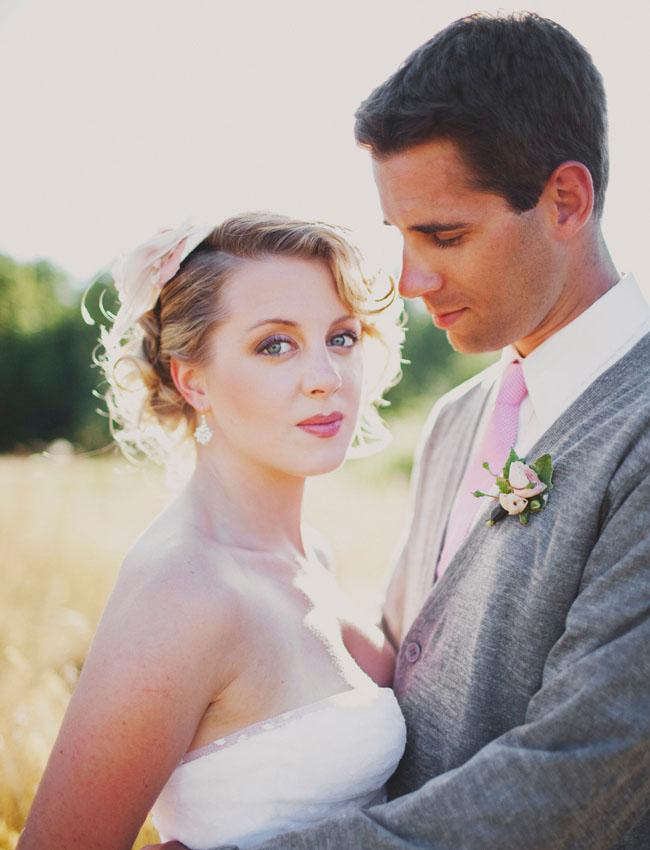 sew in love groom in pink tie