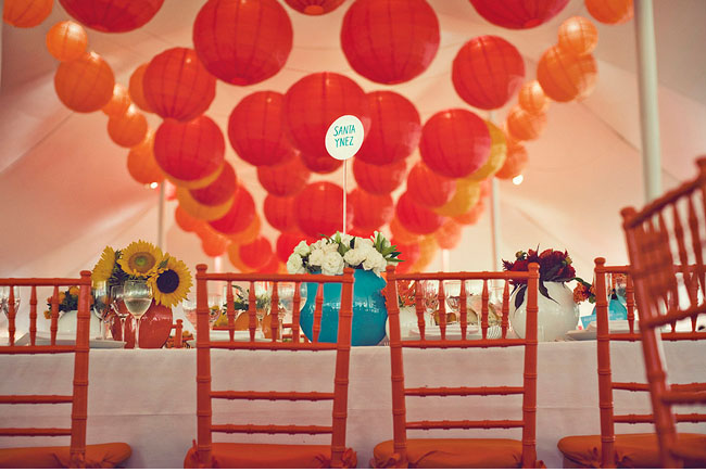 red and orange paper lanterns