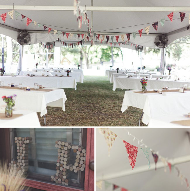 pennant banner reception decor